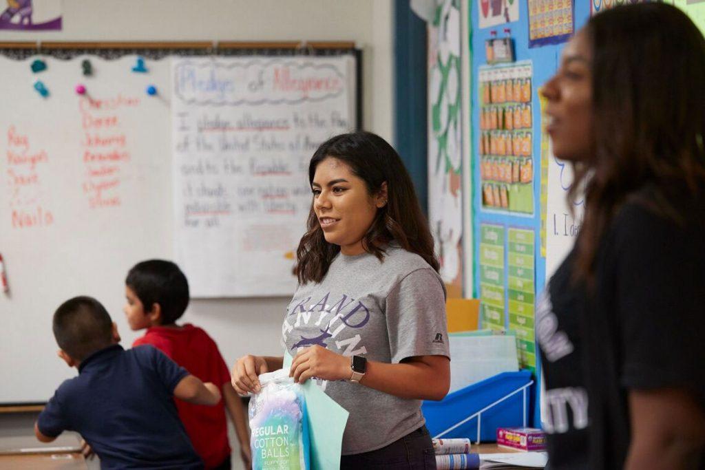 GCU Teacher with student